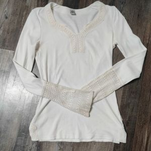 Prana knitted lace shirt